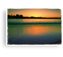 Sunset in Green Canvas Print