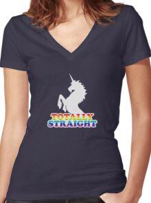 Totally Straight Women's Fitted V-Neck T-Shirt