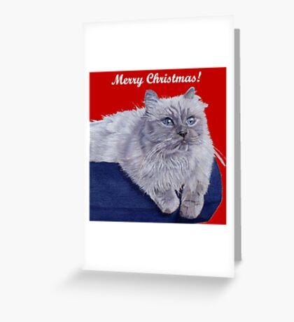 Bayou - A Portrait of a Himalayan Cat Christmas Card Greeting Card