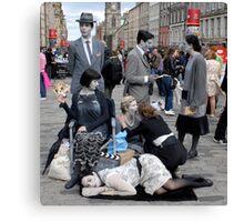 'Diamond Dick' at the Edinburgh Fringe 2011 Canvas Print