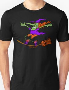 Crazy Witch Surfing on her Broom T-Shirt