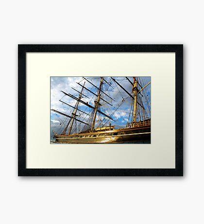CUTTY SARK GREENWICH LONDON Framed Print