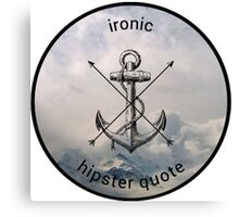 Ironic Hipster Edit Canvas Print