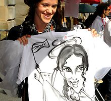 'Drawn on a T shirt' at the Edinburgh Fringe 2011 by rosie320d