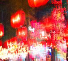 Street red lantern beijing by erminio