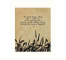 JD Salinger Quote Art Print