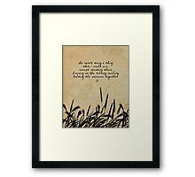 JD Salinger Quote Framed Print
