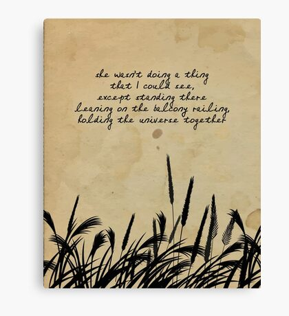 JD Salinger Quote Canvas Print