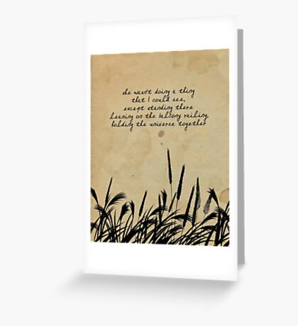 JD Salinger Quote Greeting Card