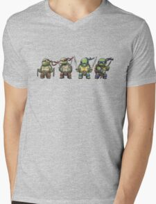 TMNT Mens V-Neck T-Shirt