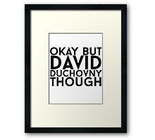 David Duchovny Framed Print