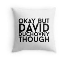 David Duchovny Throw Pillow