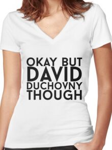 David Duchovny Women's Fitted V-Neck T-Shirt