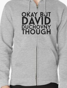 David Duchovny Zipped Hoodie