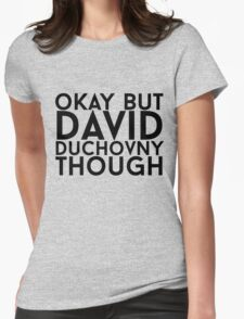 David Duchovny Womens Fitted T-Shirt