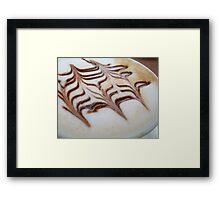 Caffeine Art Framed Print