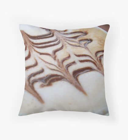 Caffeine Art Throw Pillow