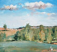 View from the balcony II. The beginning of autumn by Alla Melnichenko
