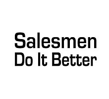 Salesman Photographic Print
