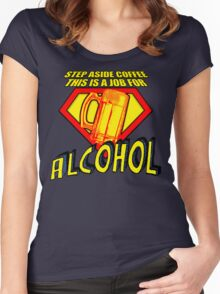 SUPER ALCOHOL Women's Fitted Scoop T-Shirt
