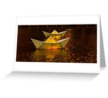 Paper Boat's aglow Greeting Card