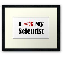 Scientist Framed Print