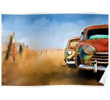Old Rusting Cars Poster