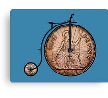 Penny farthing bike Canvas Print