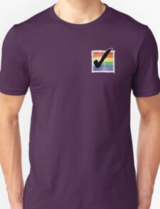 Gay? Tick! (For darker colours) Unisex T-Shirt