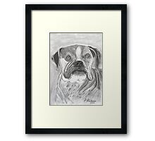 Kyla  ~ sketch of an old lady! Framed Print