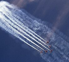 The RAAF Roulettes in Vic Formation - 2001 by Bev Pascoe