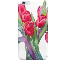 Springtime Red Tulips! iPhone Case/Skin