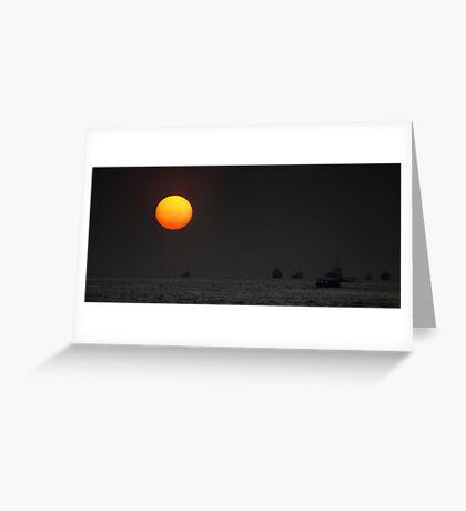 Shipping in the Sun Greeting Card