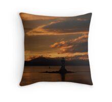 River Clyde Sunset, Port Glasgow Throw Pillow