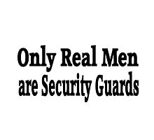 Security Guard Photographic Print