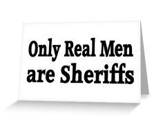 Sheriff Greeting Card