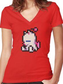 Mog (Moogle) sprite - FFRK - Final Fantasy VI (FF6) Women's Fitted V-Neck T-Shirt