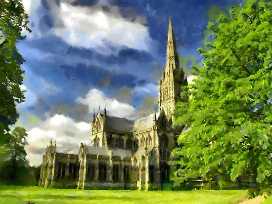 Beautiful Britain - Salisbury Cathedral by Dennis Melling