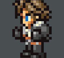 Squall Leonhart sprite - FFRK - Final Fantasy VIII (FF8) by Deezer509