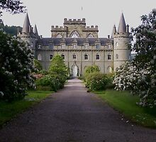 Gardens at Inverary Castle, Scotland by ElsT
