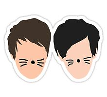 Dan and Phil Silhouette Print  by pikatea