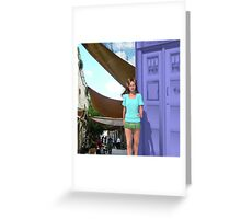 Amy Pond in Medieval Malta Greeting Card