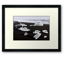 Jokulsarlon Beach, Iceland Framed Print