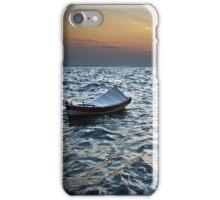 BOAT SUNSET SEA iPhone Case/Skin