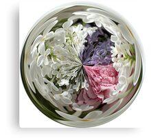 Spring Bouquet Under Glass Canvas Print