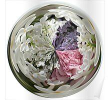 Spring Bouquet Under Glass Poster
