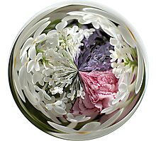 Spring Bouquet Under Glass Photographic Print