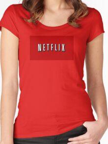 Netflix Logo Women's Fitted Scoop T-Shirt