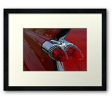 Classic Chrome & Lipstick Red Framed Print