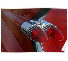 Classic Chrome & Lipstick Red Poster